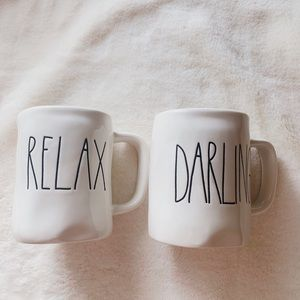 Rae Dunn mug lot relax darling new